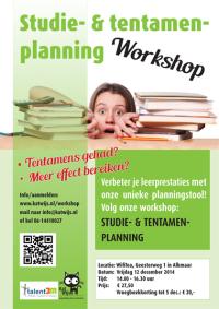 Poster voor workshop KatWijs en Talent3M