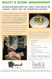 Flyer Beauty & Blond arrangement