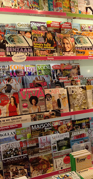 tijdschriftenvak winkel