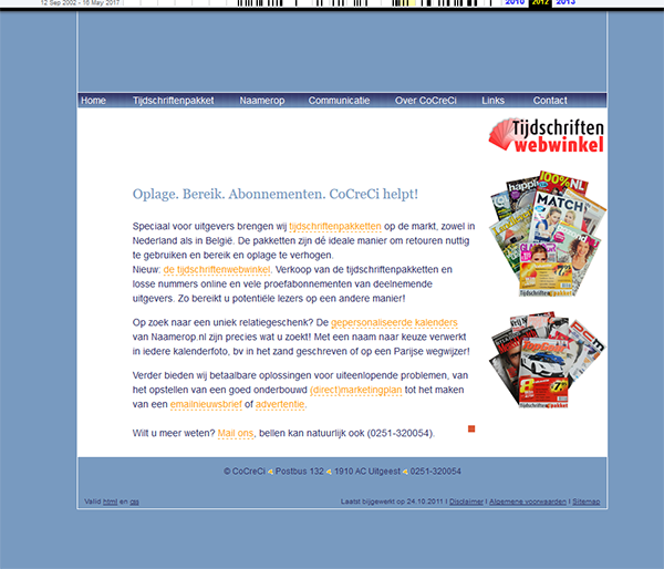 oude website CoCreCi