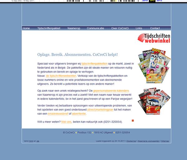 oude website CoCreCi