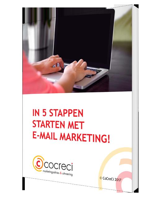 e-book In 5 stappen starten met e-mailmarketing